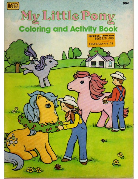 filemy little pony coloring and activitypdf