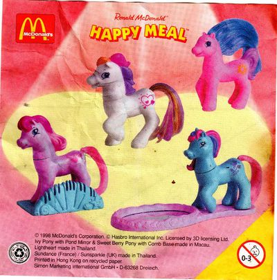 Mcdonalds 2011 My Little Pony Fluttershy Toy #2 SEALED New in PACKAGE
