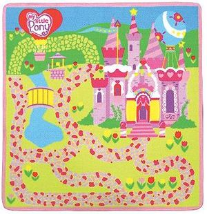 ... 2 My Little Pony Figurines. G3 Game Rug